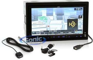 JVC KW NT800HDT 7 Touchscreen CD/DVD/ Car Stereo w/ Nav/Bluetooth