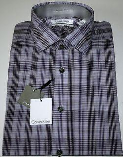 CALVIN KLEIN STEEL Slim Fit Non Iron Dress Shirt, AMETHYST, NWT