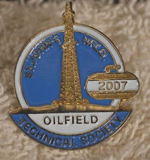 Curling St. Johns NL Oilfield Tech. So. 2007 Lapel Pin