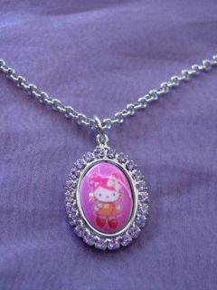 TARINA TARANTINO HELLO KITTY PINK HEAD CAMEO NECKLACE   PURPLE
