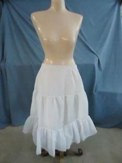 KNEE LENGTH PETTICOAT WHITE SLIP ROCKABILLY SQUARE DANCE HOLIDAY