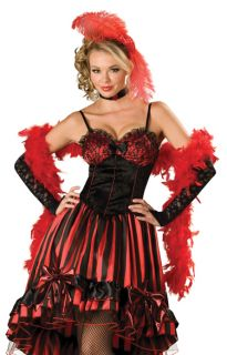 Can Can Saloon Girl Outfit Adult Fancy Dress Halloween Costume