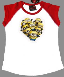 Despicable Me Minions T Shirt Girls Choose Size/Colour Quality T Shirt