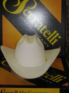 SERRATELLI 10X EL CAPITAN WHITE 3 1/2 BRIM WESTERN COWBOY HAT ALL