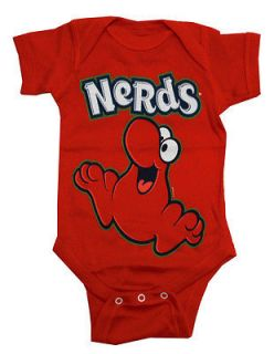 Nerds Red Nerd Logo Candy Vintage Style Life Clothing Baby Snapsuit
