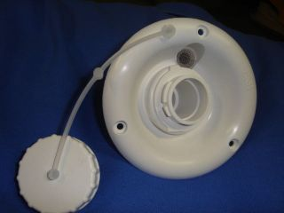 RV camper trailer marine GRAVITY WATER FILL dish NEW wh