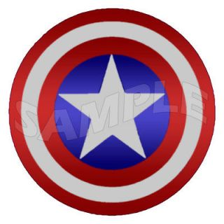 Captain America Shield Round Edible Cake Image Topper Decoration 7.5