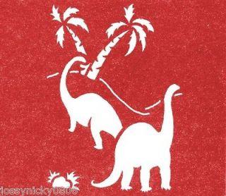 STENCIL DINOSAURS STENCIL DINOS PALM PALMS TREE TEMPLATE NEW 10 X 12