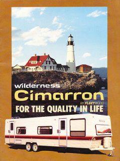 1985 Fleetwood Cimarron Camper Trailer 20 page Original Sales Brochure