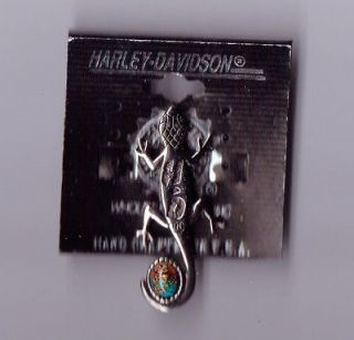 HARLEY DAVIDSON SILVERPLATED LIZARD KINGMAN PIN.NEW