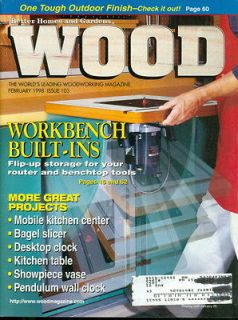 1998 Wood Magazine Workbench Built Ins Flip up Storage Router/Bagel
