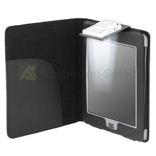 listed For  Kindle Touch Black Leather Case Cover With LED Light