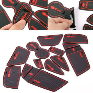 Non Slip Interior Door Cup Holder Coins Mat Pad 11pcs For Ford Focus