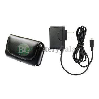 Home Wall AC Charger+Pouch Case Phone for Verizon Casio GzOne Commando