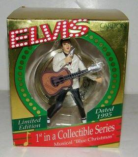 Carlton Cards Heirloom Elvis Presley Blue Christmas Musical Christmas