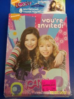 iCarly Carly Shay Nickelodeon Birthday Party Invitation/Thank You Note