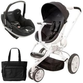 Quinny Moodd Stroller Travel system w/Diaper bag and car seat   Black
