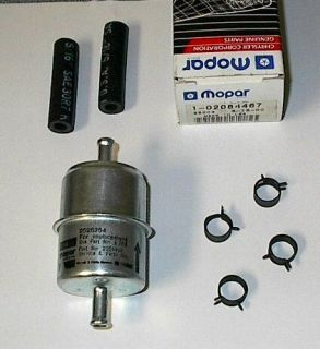 NOS Vintage MoPar 1960 78 5/16 In Line Fuel Filter Kit