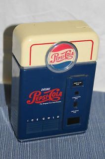 PEPSI COLA PIGGY BANK VENDING MACHINE COIN SORTER ADVERTISING