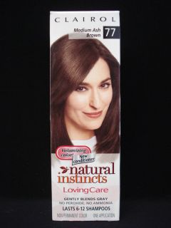 CLAIROL Natural Instincts Loving Care Hair Color Medium Ash Brown # 77