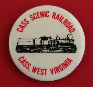 Vintage CASS Scenic Railroad West Virginia Button/Pin Back Pinback