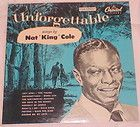 Unforgettable Nat King Cole Capitol Records Mona Lisa Pretend Make Her