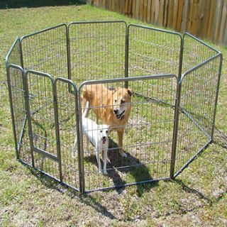 Heavy Duty Pet Playpen Dog Exercise Pen Cat Fence 8 panel 32  Inch