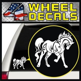 Horse Vinyl Decal Sticker Bumper Window Pickup Jeep Girl (White