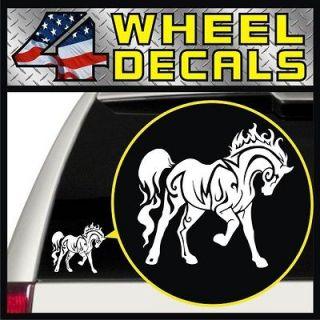 Horse Vinyl Decal Sticker Bumper Window Pickup Jeep Girl (White