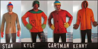 Adult Mens TV South Park Cartoon Character Gang Costume