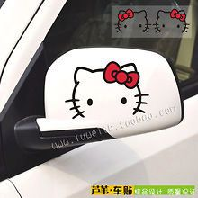 HELLO KITTY STICKER FOR CAR SIDE MIRROR OR FURNITURE