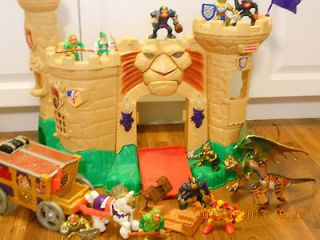 Fisher Price Imaginext Magic Castle w/Knights,Coach,Dragons,Boulders++