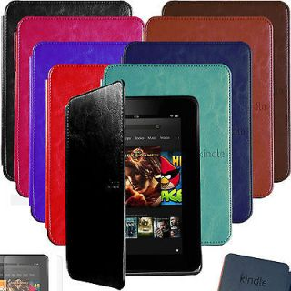 Auto Sleep LEATHER CASE COVER HARD SHELL for KINDLE FIRE HD 7 +SP