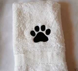 PAW PRINT WASH CLOTH   DOG/CAT GROOMING  CUTE