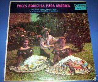 HERMANAS CASTILLO Voces boricuas PUERTO RICO FOLK VG+LP