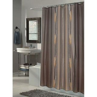 Carnation Home Fashions Catherine Extra Long Fabric Shower Curtain SC