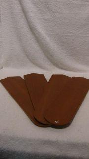 Set of 4 Replacement Ceiling Fan Blades Lt Brown Wood Grain
