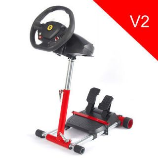 Racing Steering Wheel Stand 4 Thrustmaster V2 Red F430, F458, RGT