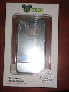 4S Mickey Mouse Clip Case and Screen Guard Disney D Tech  BRAND NEW