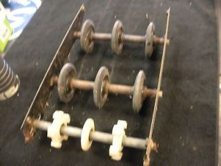 1972 Arctic Cat Kitty Cat T5A Rear Suspension Skid Frame Bogie Wheels