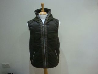 Comme des garcons Junya Watanabe x Duvetica Hooded gilet Jacket olive