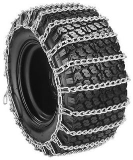 20x10.00 8) 2 Link Garden Tractor Snow Tire Chains Size 20 10.00 8