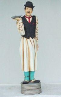 holding a Plate Resin Figure statue Charlie Chaplin doll art sculpture