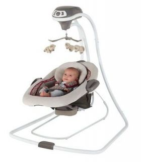 Graco DuetConnect LX Infant Baby Swing & Bouncer – Finley  1852653