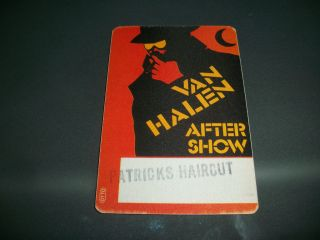 Van Halen RARE Backstage Pass Cloth Sticker 1984 Tour Eddie David Lee