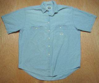 Vintage 1980s 90s Levis Chambray Shirt Dockers  Work Anchor & Wings