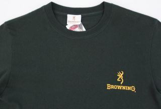 Mens BROWNING L/S Green Duck Hunting Shirt Small S NWT NEW Cool