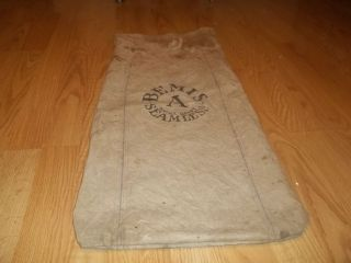 Vintage Bemis A Extra Heavy Seamless Feed Seed Sack good for decor