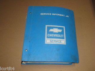 1984 Chevrolet S 10 pickup truck Blazer service shop dealer repair