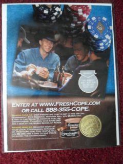 2004 Print Ad Copenhagen Smokeless Tobacco Ty Murray Rodeo Cowboy